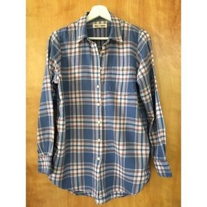 Madewell Rivet Thread Blue Hannah Plaid Flannel
